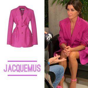 Full set! Jacquemus pink blazer & shorts size34